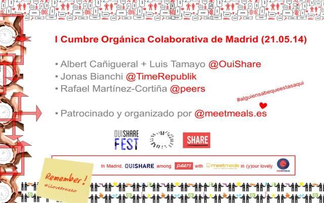 Para inscribirse, a través de www.meetmeals.es