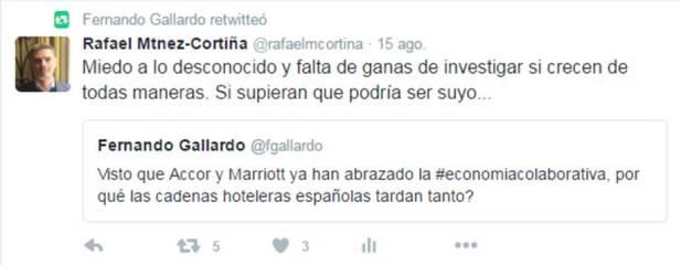 Fernando Gallardo se pregunta por qué los hoteleros españoles no han sabido ver la oportunidad de conectar con mercados P2P, cuando otros grandes grupos hoteleros globales ya han apostado. ¿Por qué será?